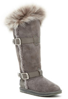 Australia Luxe Collective Tsar Extra Tall Genuine Shearling Boot With Genuine Fox Fur Trim