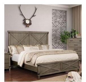 Orrington King Platform Bed Gracie Oaks Color: Gray, Size: California KIng