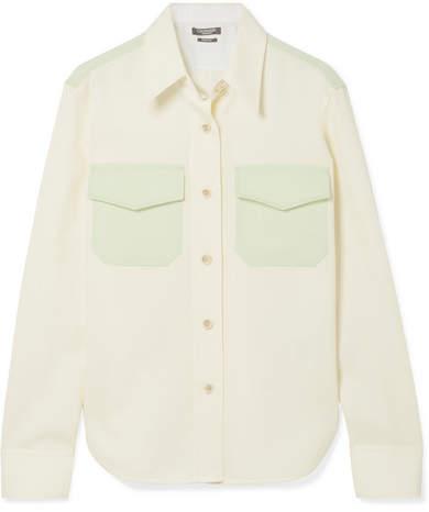 Calvin Klein Two-tone Cotton-twill Shirt - White