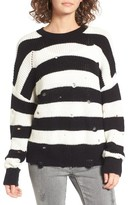 BP Women's Decontructed Stripe Cotton Pullover