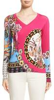 Etro Animal Jungle Stretch Silk Sweater