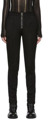 Yang Li Black Slim Exposed Zip Trousers