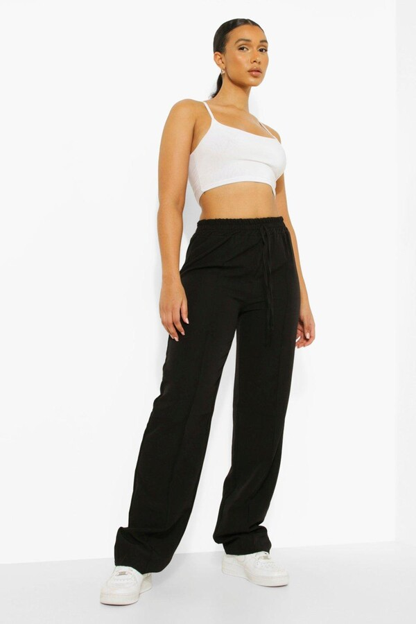 Thumbnail for your product : boohoo Woven Deep Waist Luxe Joggers