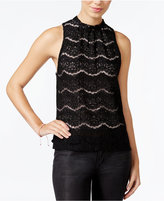 Amy Byer Juniors' Lace Halter Top