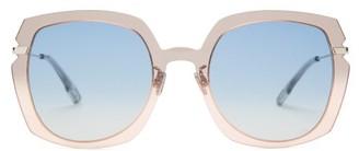 Christian Dior Diorattitude1 Cat-eye Acetate Sunglasses - Womens - Grey Multi