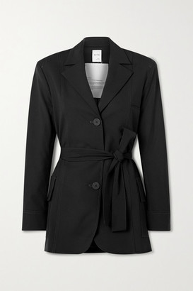 BITE Studios - Net Sustain Belted Organic Wool-blend Jacket - Black