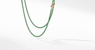 David Yurman Dy Bel Aire Chain Necklace In Green With 14K Gold Accents