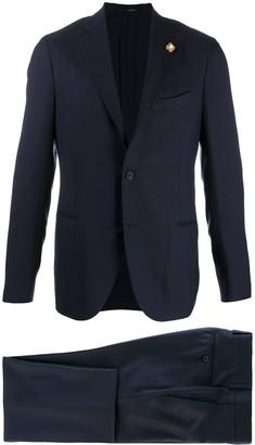 Lardini Single-Breasted Wool Suit