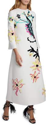Valentino Embroidered Maxi Dress