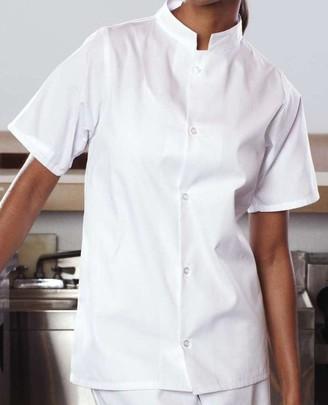 Uncommon Threads Unisex-Adult's Plus Size Mandarin Collar Utility Shirt White 6XL