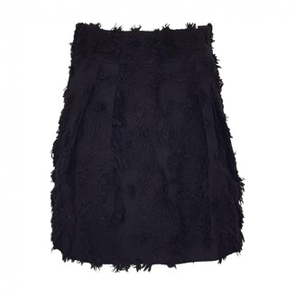 Francesco Scognamiglio Black Wool Skirt for Women