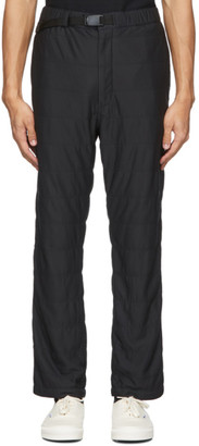 Snow Peak Black Flexible Insulated Trousers