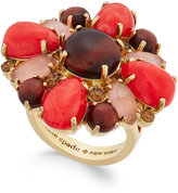 Kate Spade Burst Into Bloom Gold-Tone Stone Statement Ring