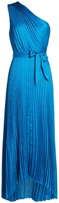 Intermix Luisa Pleated Satin Midi Dress