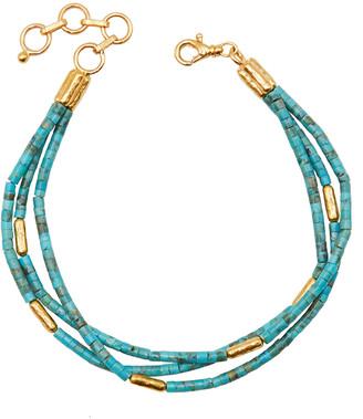Gurhan Jet Set Turquoise Triple Strand Bracelet