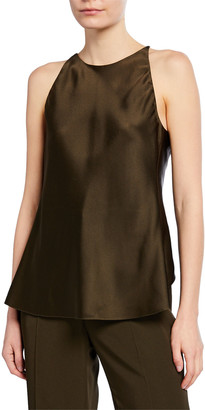 Rosetta Getty Strappy Crisscross-Back Satin Camisole