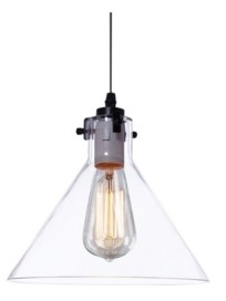 """Home Accessories Annie 11"""" 1-Light Indoor Pendant Lamp with Light Kit"""
