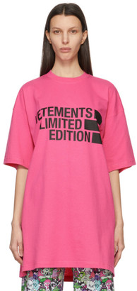 Vetements Pink Limited Edition Big Logo T-Shirt