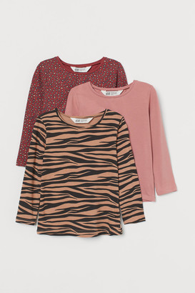 H&M 3-Pack Jersey Tops