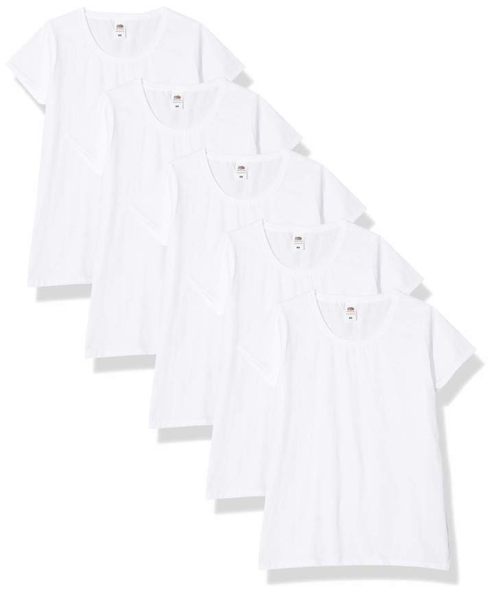 Fruit of the Loom Women's Lady-Fit Valueweight Tee 5 Pack T-Shirt