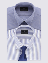 M&S Collection 2 Pack Easy to Iron Tailored Fit Shirts