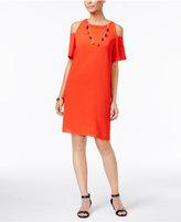 Thalia Sodi Cold-Shoulder Necklace Dress, Only at Macy's