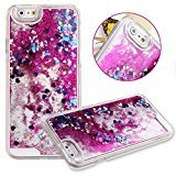 Beauty Case for iPhone 6,Cover for iPhone 6,Back Beauty Case for iPhone 6 with 4.7 inch Screen,Transparent Hard Beauty Case for iPhone 6,Mybase Creative Design Flowing Liquid Floating Luxury Bling Glitter Sparkle Stars Hard Beauty Case for Apple iPhone 6