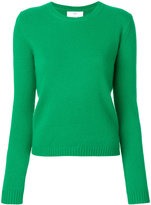 Allude cropped crew neck jumper