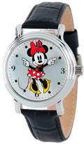 Disney Princess Disney Minnie Mouse Womens Black Leather Strap Watch-W001878
