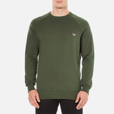 MAISON KITSUNÉ Men's Tricolor Patch Sweatshirt Khaki