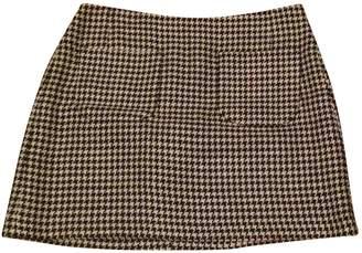 Jigsaw Black Linen Skirt for Women