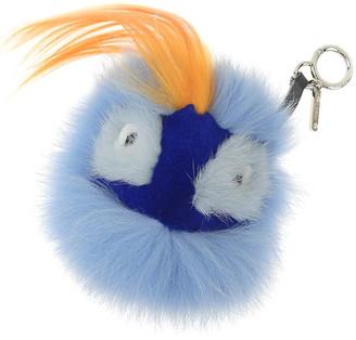 Fendi Blue/Orange Fur and Mink Oret Monster Bag Bug Bag Charm and Key Holder