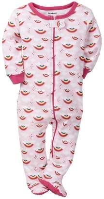 Leveret Rainbow Cotton Footed Sleeper (Baby Girls)