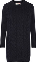 See by Chloe Textured-knit wool-blend mini dress
