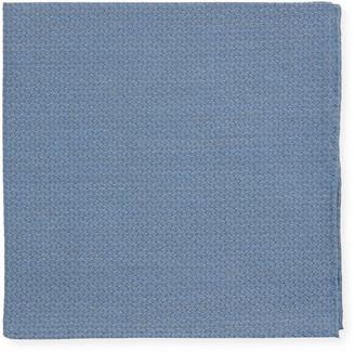 Simonnot Godard Men's Solid Jacquard Cashmere-Blend Pocket Square