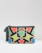 Cleobella Sunset Embroidered Clutch Bag