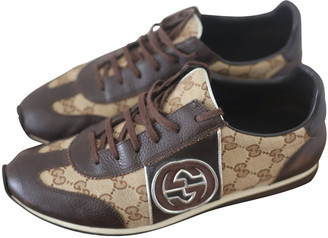 Gucci Brown Leather Trainers
