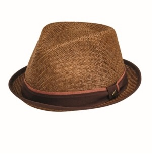 San Diego Hat Company San Diego Hat Men's Porkpie with Stripe Grosgrain