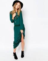 Gat Rimon Jalie Maxi Dress in Forest Green