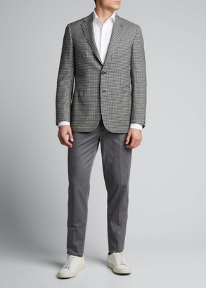 Brioni Men's Gingham Check Two-Button Jacket