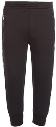 Neil Barrett Monogram Side-Striped Crop Sweatpants