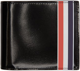 Thom Browne Black Striped Billfold Wallet