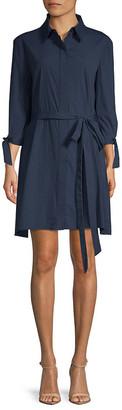 Milly Avery Quarter-Sleeve Shirtdress