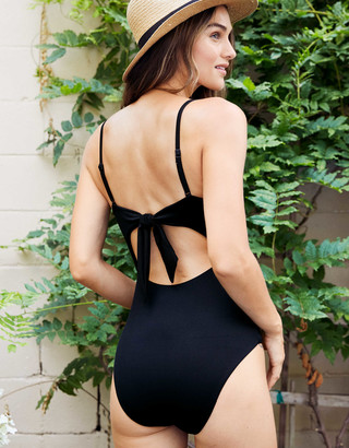 aerie Ribbed Tie Back One Piece Swimsuit
