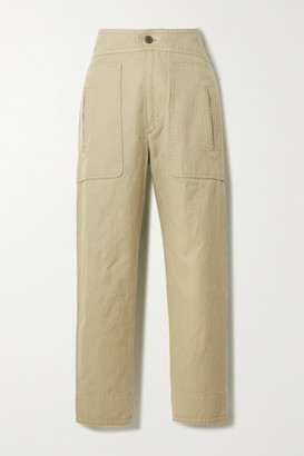 Etoile Isabel Marant Raluni Cotton And Linen-blend Tapered Pants - Camel