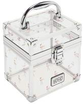 S.O.H.O New York Small Clear Flamingo Vanity Case