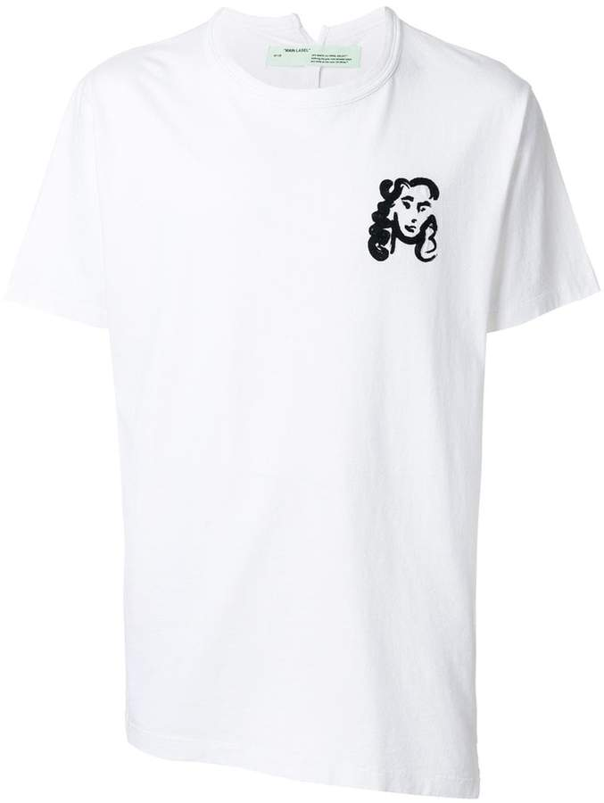 Off-White face print T-shirt