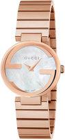 Gucci Women's Swiss Interlocking Pink Gold-Tone PVD Stainless Steel Bracelet Watch 29mm YA133515