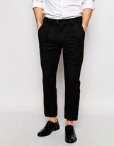 ADPT Wool Casual Pants in Slim Fit