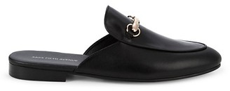 Saks Fifth Avenue Redford Leather Backless Loafers